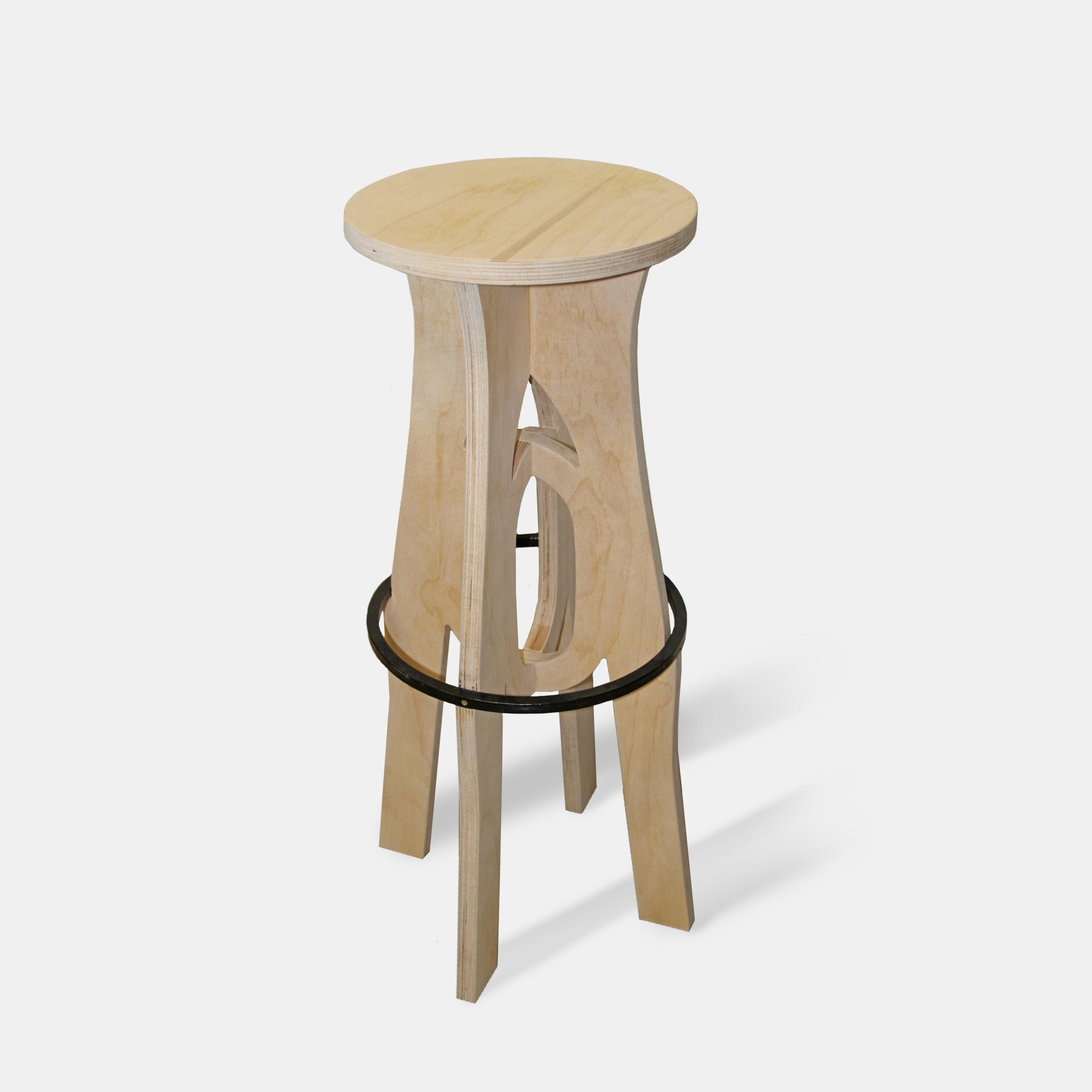 Барный стул «Круг и обруч»