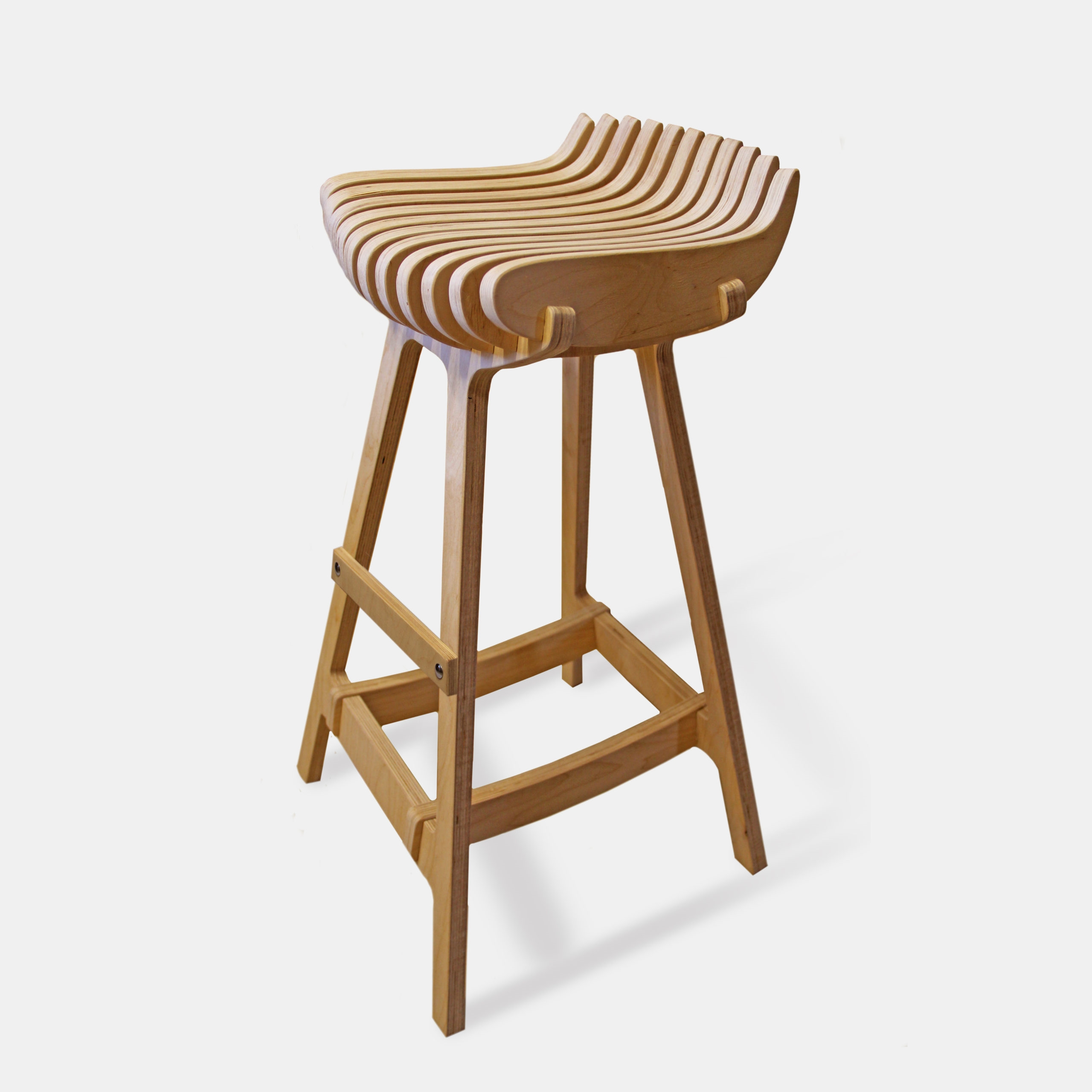 Барный стул «Параметрический» с подножкой
