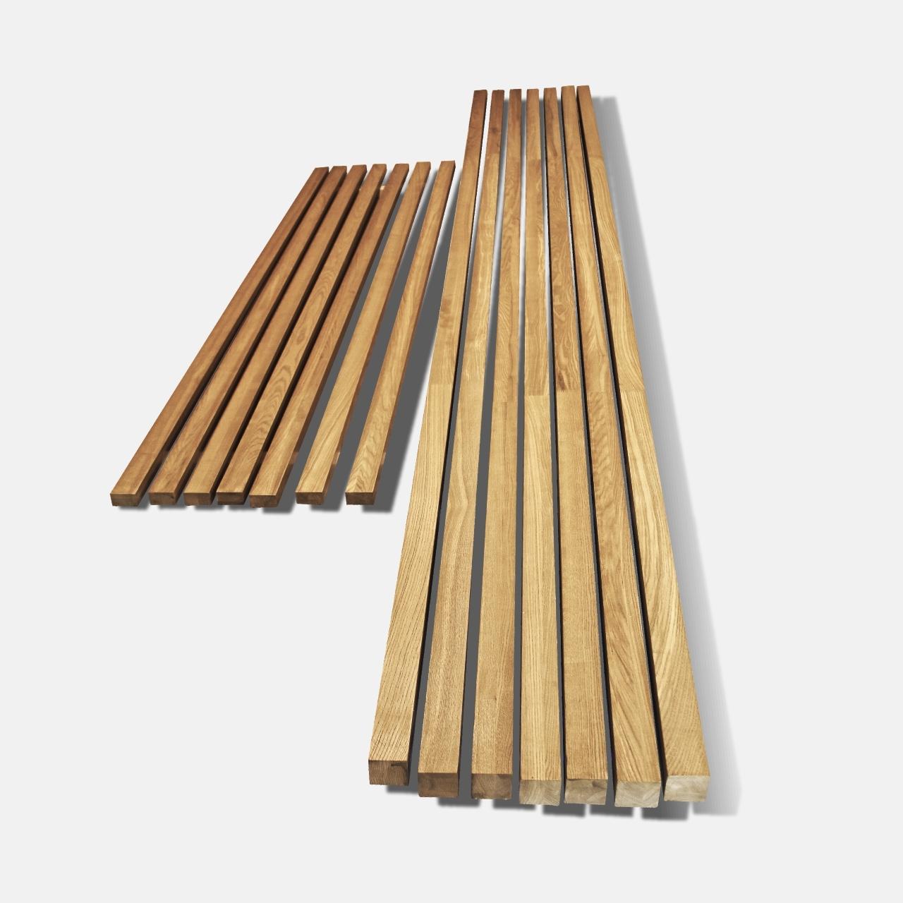 Декоративные рейки для стен из дерева