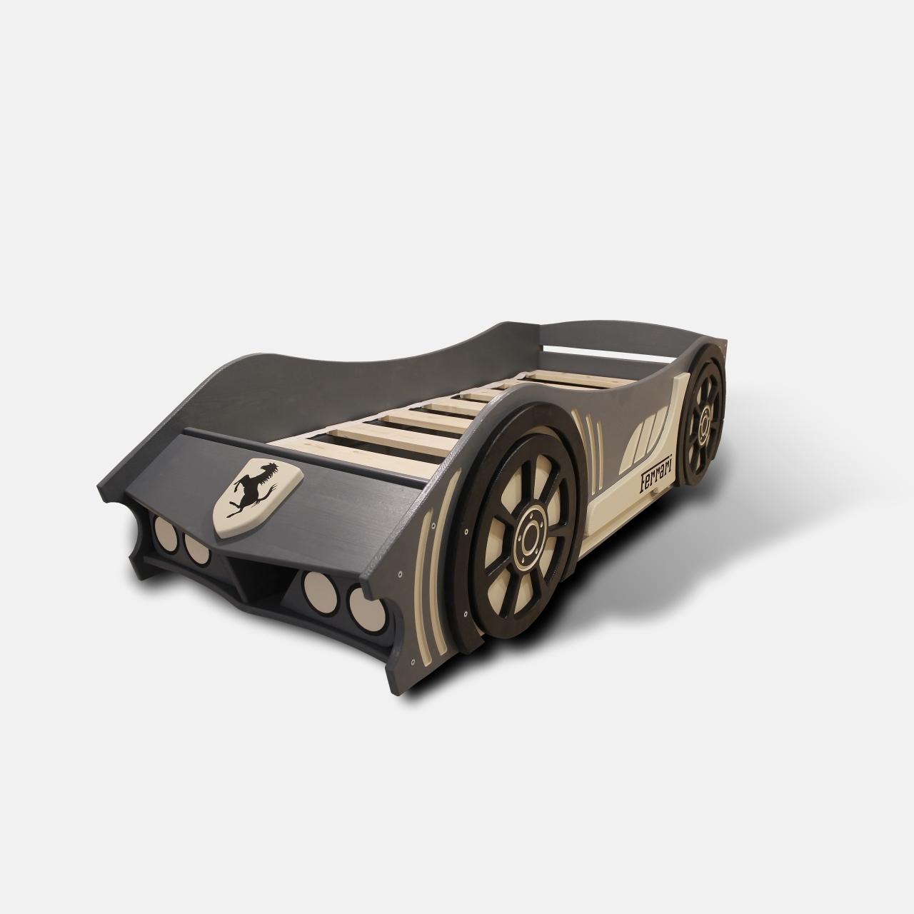 Детская кровать машина из дерева без спойлера