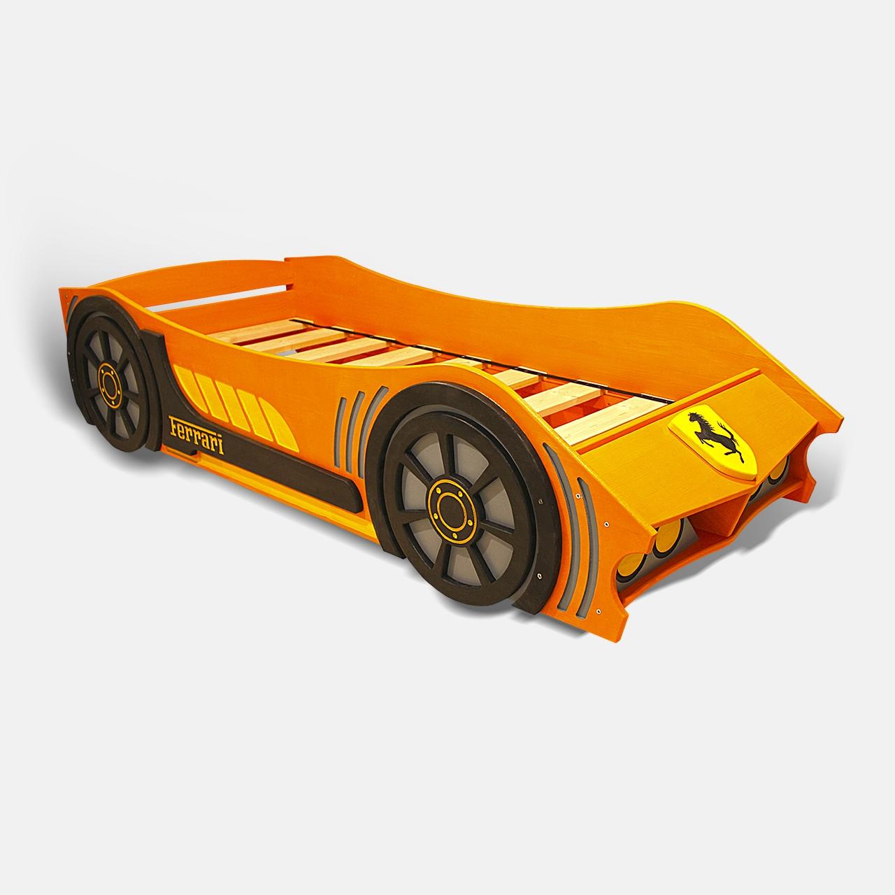 Детская кровать машина из дерева без спойлера  (2)