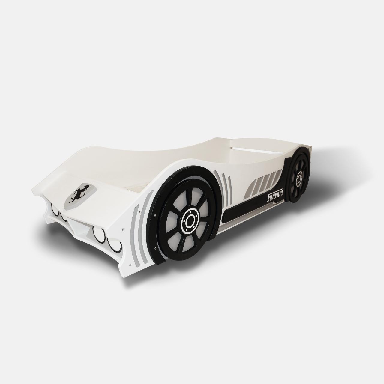 Детская кровать машина из дерева без спойлера  (5)