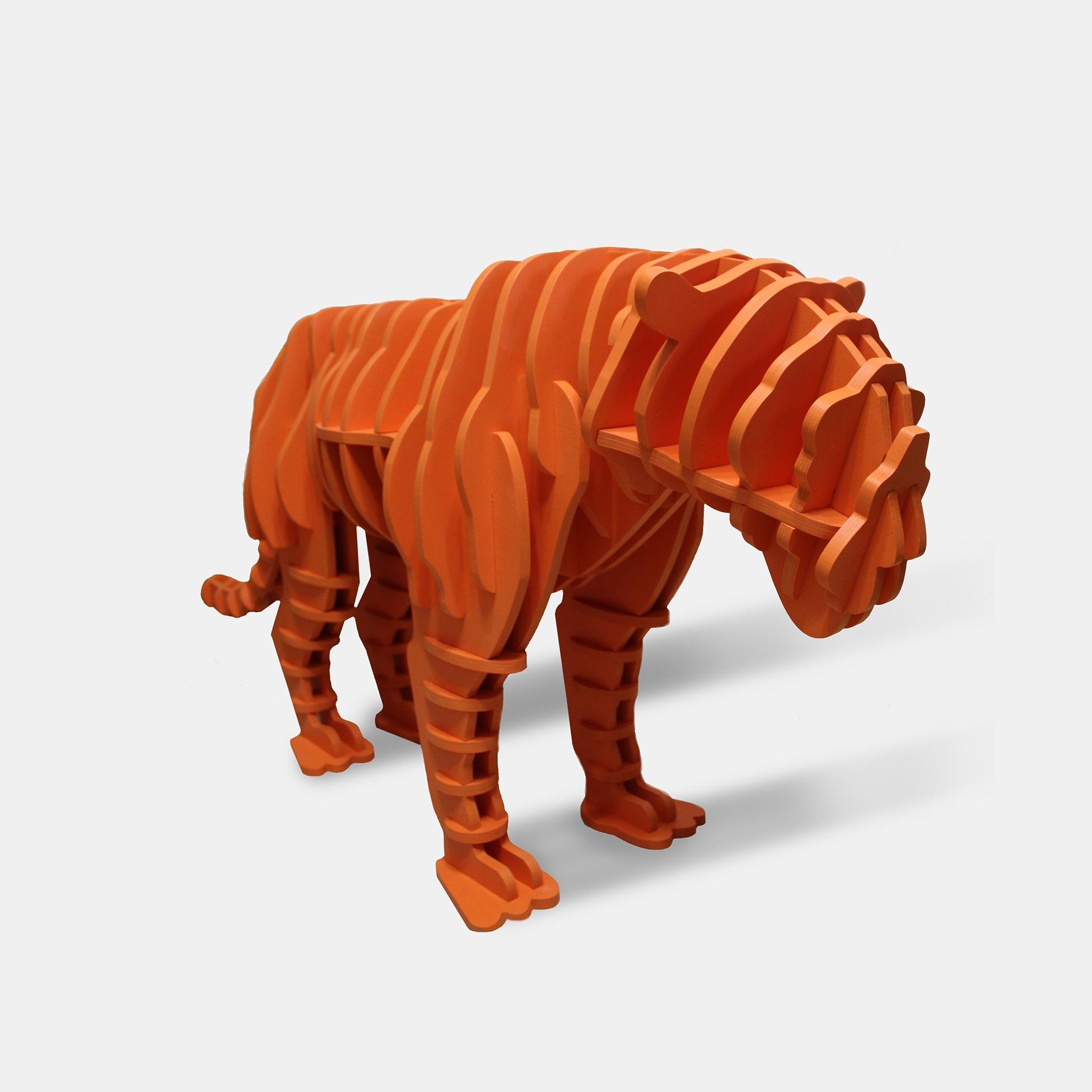 Параметрический тигр игрушка-полка