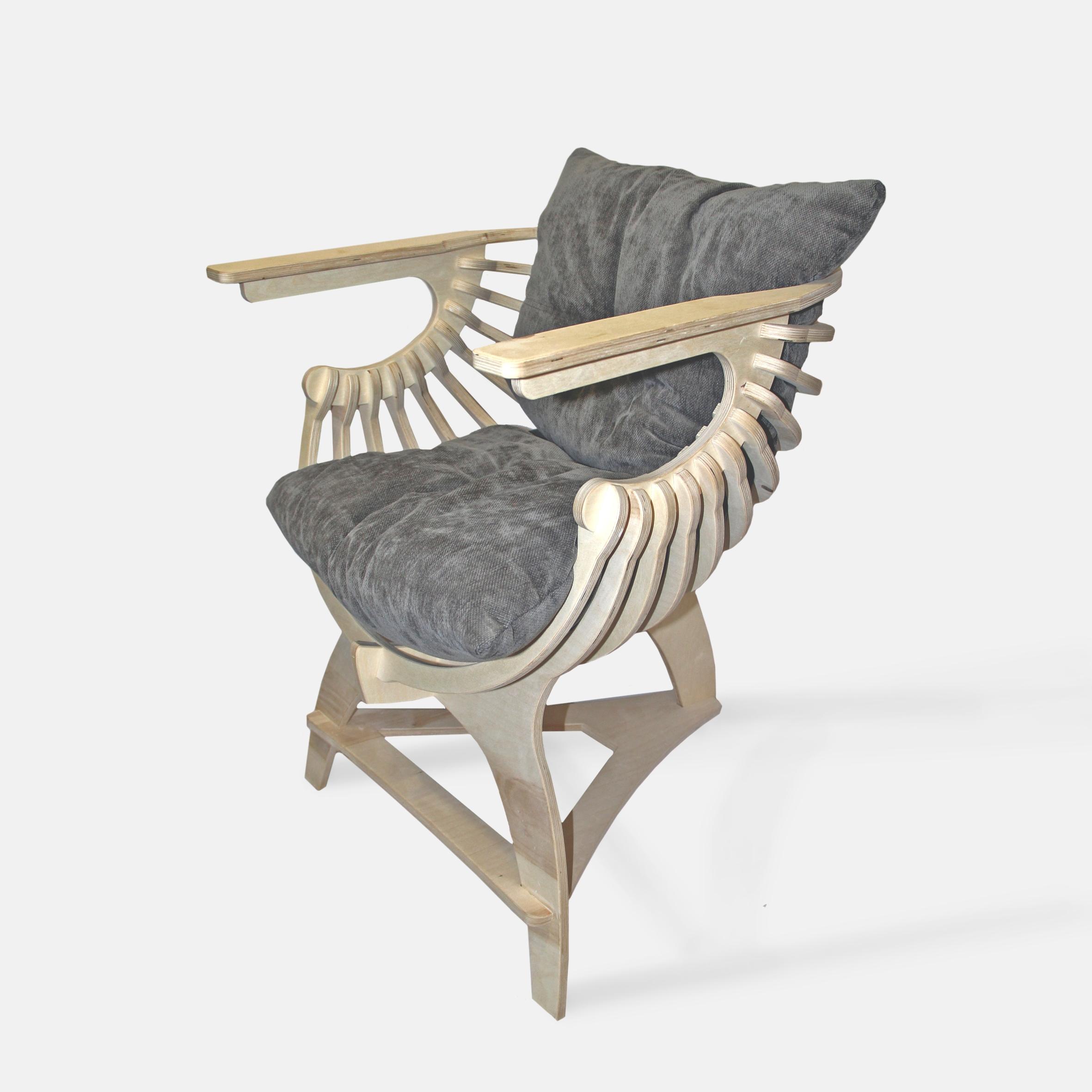 Параметрическое деревянное кресло «Минирелакс»